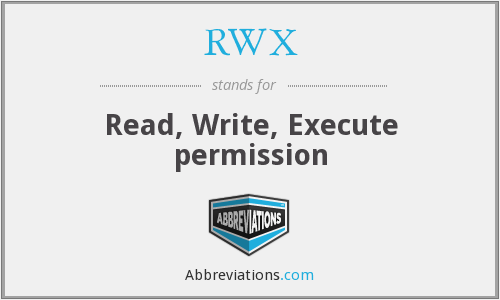 RWX - Read, Write, Execute permission