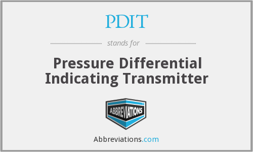 What does PDIT stand for?