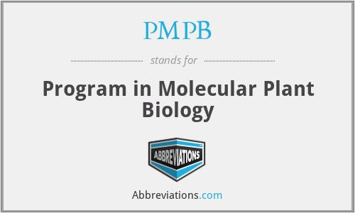 PMPB - Program in Molecular Plant Biology