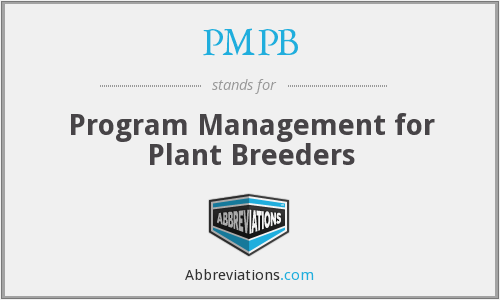 PMPB - Program Management for Plant Breeders