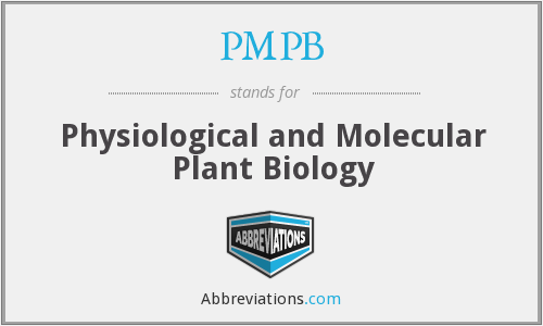 PMPB - Physiological and Molecular Plant Biology