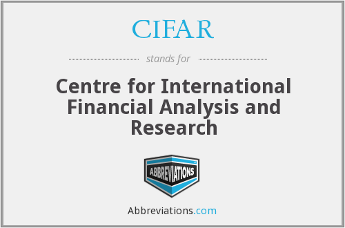 CIFAR - Centre for International Financial Analysis and Research