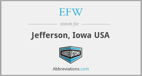 EFW - Jefferson, Iowa USA