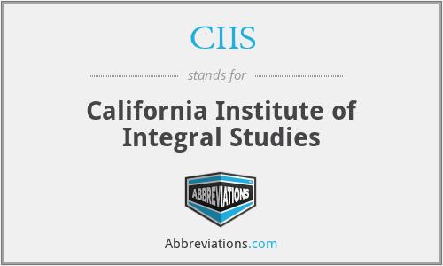 CIIS - California Institute of Integral Studies
