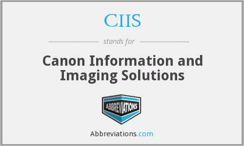 CIIS - Canon Information and Imaging Solutions