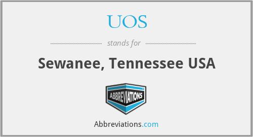 UOS - Sewanee, Tennessee USA