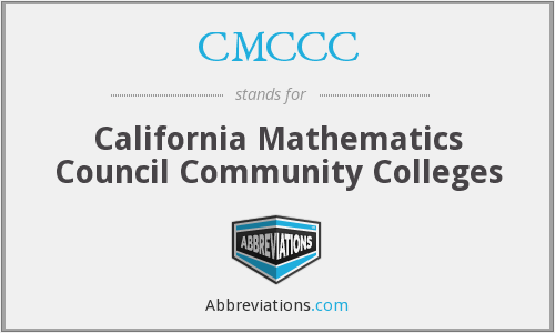 CMCCC - California Mathematics Council Community Colleges