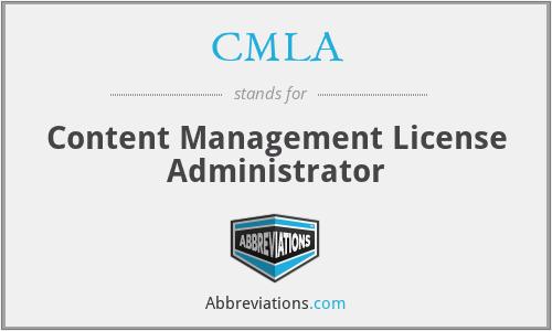 CMLA - Content Management License Administrator