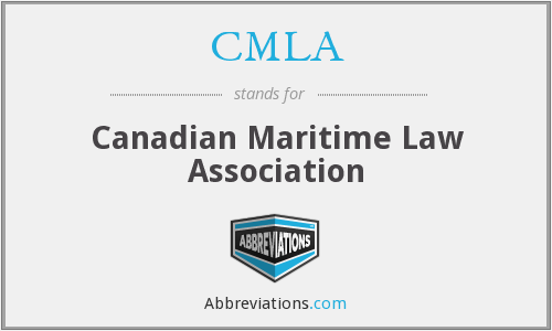 CMLA - Canadian Maritime Law Association