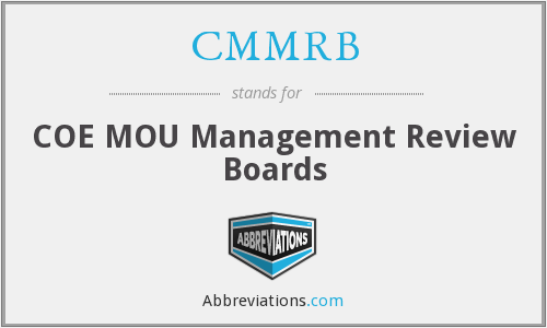 What does CMMRB stand for?