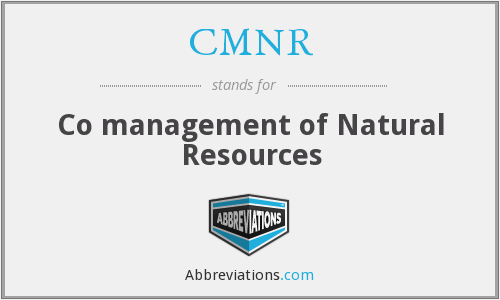 What does CMNR stand for?