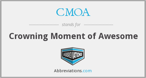CMOA - Crowning Moment of Awesome