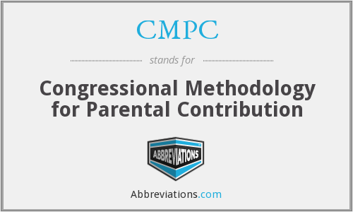 CMPC - Congressional Methodology for Parental Contribution