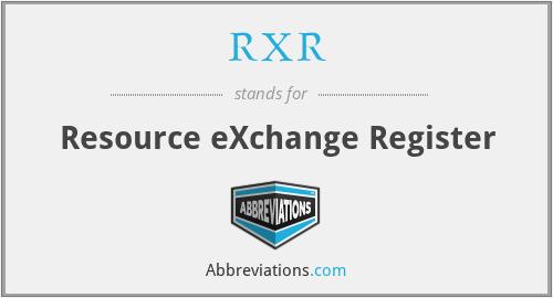RXR - Resource eXchange Register