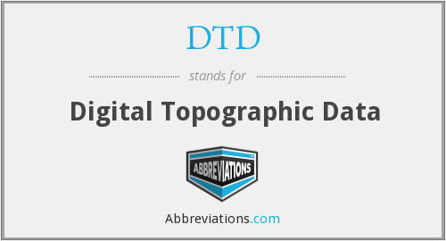 DTD - Digital Topographic Data