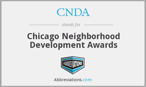 CNDA - Chicago Neighborhood Development Awards