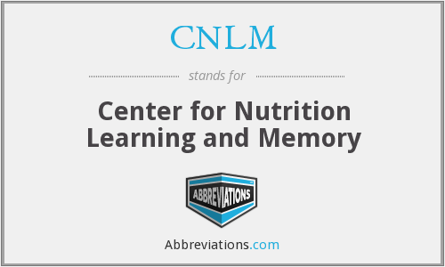 CNLM - Center for Nutrition Learning and Memory