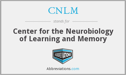 CNLM - Center for the Neurobiology of Learning and Memory