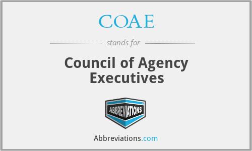 COAE - Council of Agency Executives