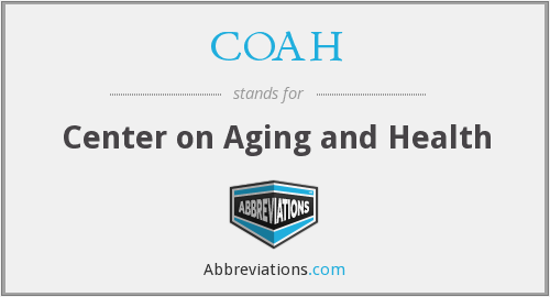 COAH - Center on Aging and Health
