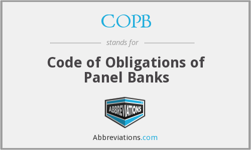 What does COPB stand for?
