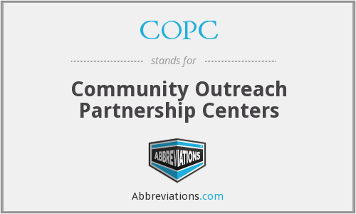COPC - Community Outreach Partnership Centers