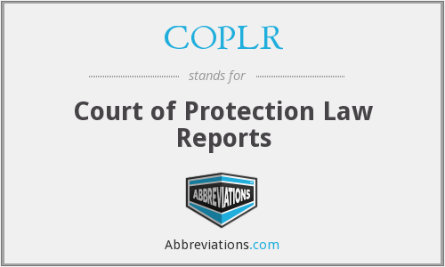 COPLR - Court of Protection Law Reports