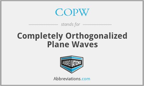 COPW - Completely Orthogonalized Plane Waves