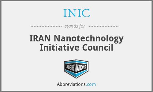 INIC - IRAN Nanotechnology Initiative Council