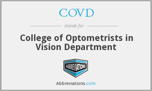 COVD - College of Optometrists in Vision Department