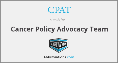 CPAT - Cancer Policy Advocacy Team