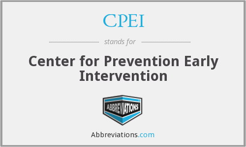 CPEI - Center for Prevention Early Intervention