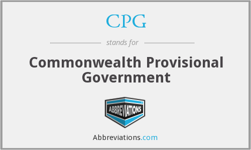 CPG - Commonwealth Provisional Government
