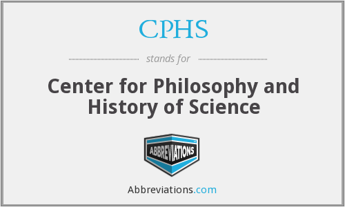 CPHS - Center for Philosophy and History of Science