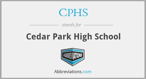 CPHS - Cedar Park High School
