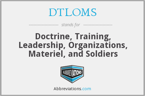 What does DTLOMS stand for?