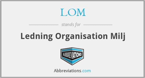 LOM - Ledning Organisation Milj
