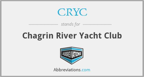 CRYC - Chagrin River Yacht Club
