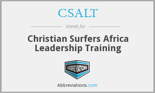 CSALT - Christian Surfers Africa Leadership Training
