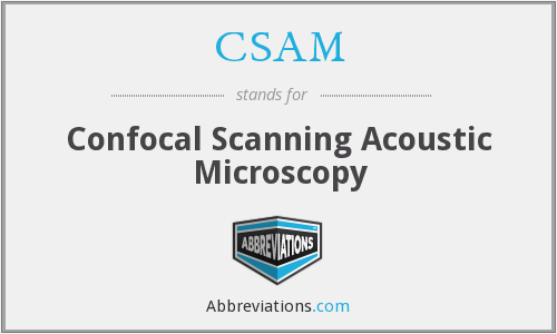 CSAM - Confocal Scanning Acoustic Microscopy