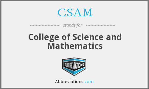 CSAM - College of Science and Mathematics