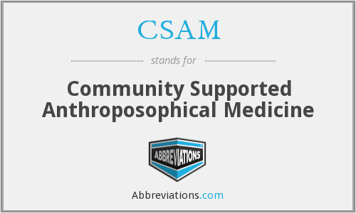CSAM - Community Supported Anthroposophical Medicine