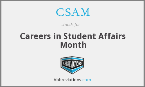 CSAM - Careers in Student Affairs Month