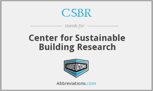 CSBR - Center for Sustainable Building Research