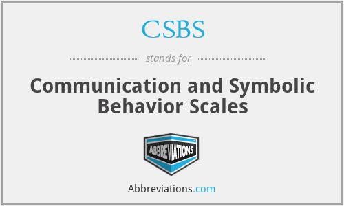 Csbs Communication And Symbolic Behavior Scales
