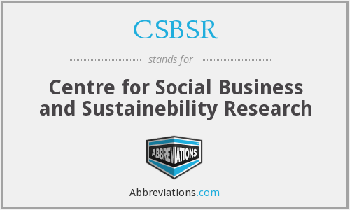 What does CSBSR stand for?