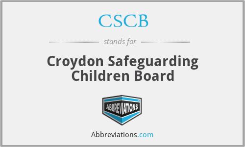 CSCB - Croydon Safeguarding Children Board