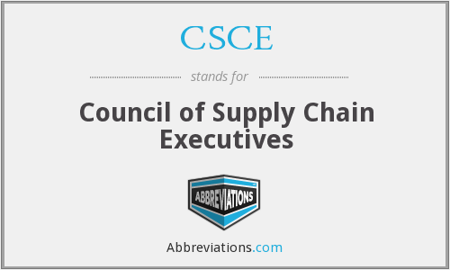 CSCE - Council of Supply Chain Executives