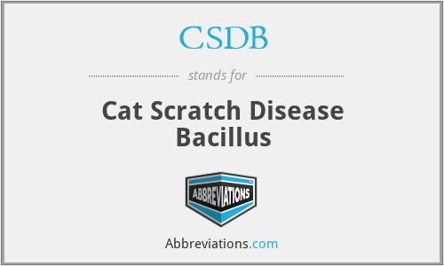 CSDB - Cat Scratch Disease Bacillus