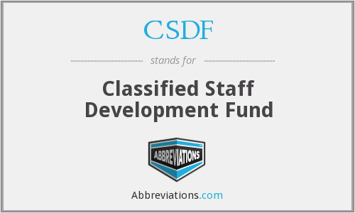 What does CSDF stand for?